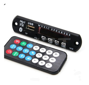 Placa Decodificadora 12v Mp3/ Aux/ Bluetooth- Modulo. Atacad