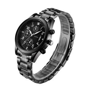 Relógio Marca Original Dourado Preto Aço Homem Social Batato