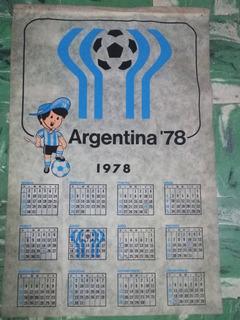 Antiguo Banderin Almanaque * Mundial 78 * Unico 65cm X 43 Cm