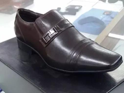 Sapato De Couro Sintético Marrom A Pronto Entrega+qualidade*