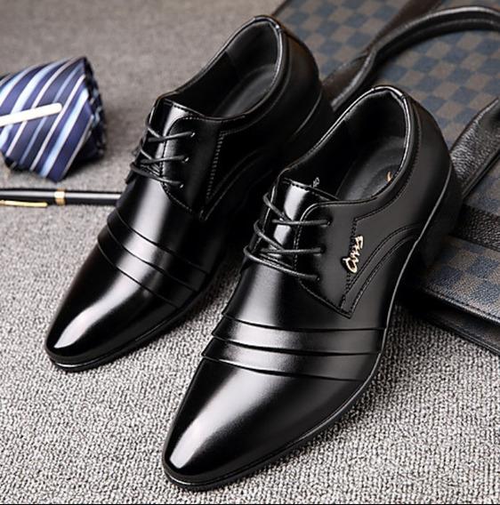 Zapatos Oxford Negros Caballero