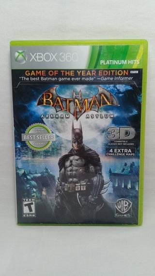 Batman Arkham Asylum Xbox 360 Original Completo Usado