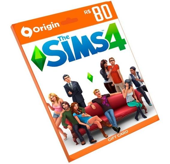 Cartão The Sims 4 Origin R$ 80 - Código Para Ativar Pc