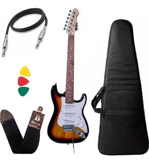 Guitarra Eletrica Infantil Phx Ist1 3/4 Sunburst Capa Bag