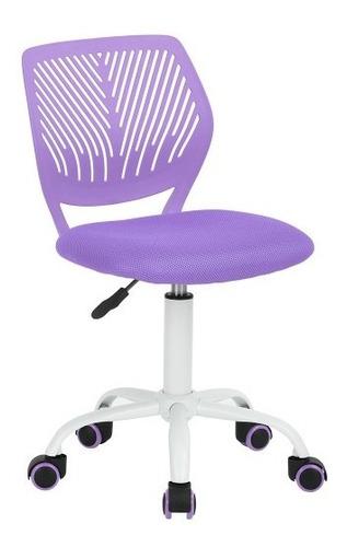 Silla De Oficina Altura Ajustable Carnation Púrpura Moderna