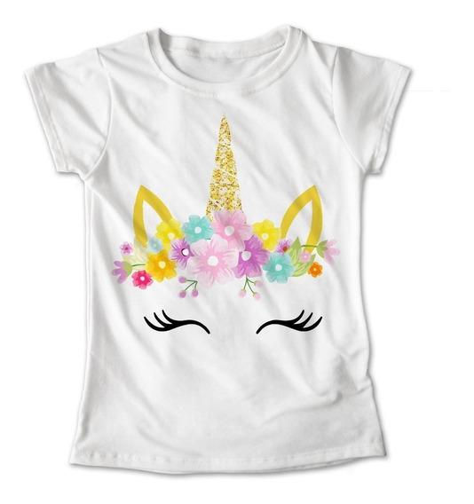 Blusa Unicornio Colores Playera Estampado Flores #399