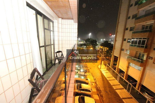 Imagem 1 de 12 de Flat Com 1 Dormitório À Venda, 43 M² Por R$ 190.000,00 - Itararé - São Vicente/sp - Fl0010