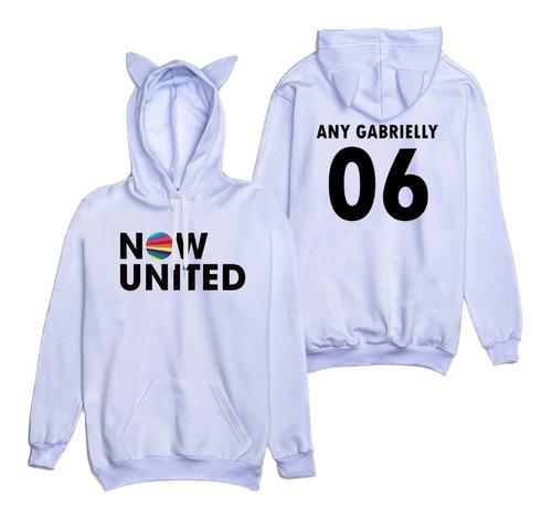 Moletom Orelhinha Now United Any Gabrielly 06 Brasil Music