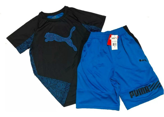 Conjunto Puma Infanto Juvenil Tecido Leve Esportes 10-12anos