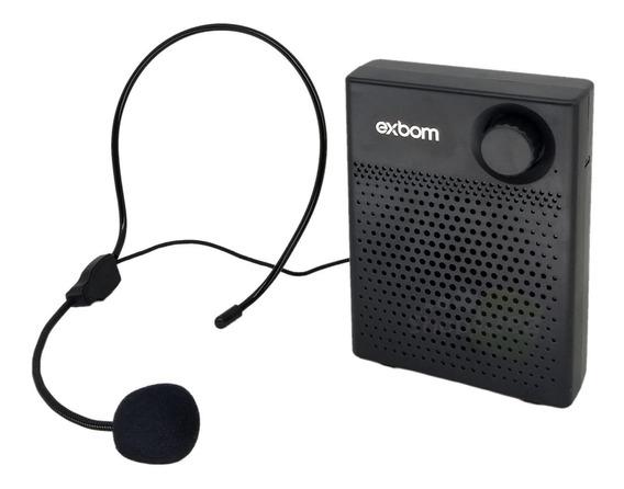 Microfone Professor Megafone Amplificador Voz 7w Bluetooth
