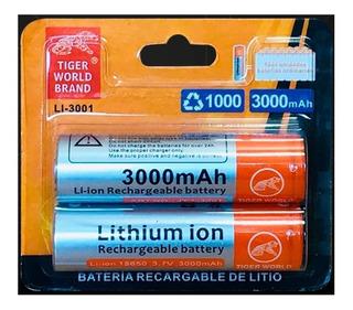 Bateria Recargable 18650 Li-on 3.7v 3000mah + Delivery