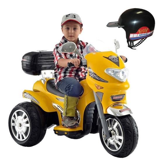 Moto Elétrica Infantil Som E Luz Sprint Turbo Amarela 12v
