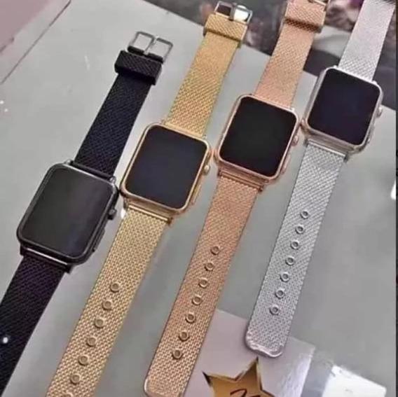 Kit Com 10 Relógios Digital Quadrado Unissex Atacado