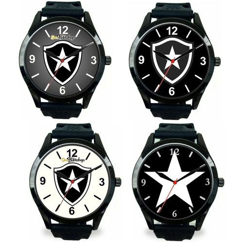 Kit 4 Relógios Pulso Esportivo Botafogo Masculino Revenda