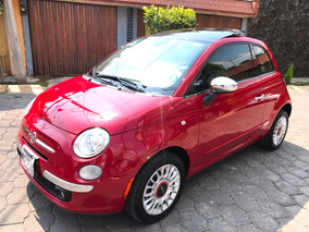 Fiat 500 Lounge 2014 Automatico Piel Clima Qc Bolsas Rines