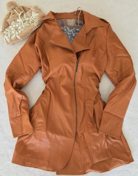 Vestido Casaco Trench Coat Caramelo Perfect Way 38