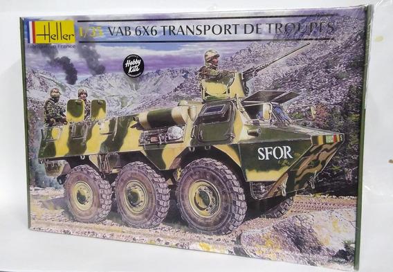 Maqueta Para Armar Vehiculo Vab 6x6 Transporte Heller
