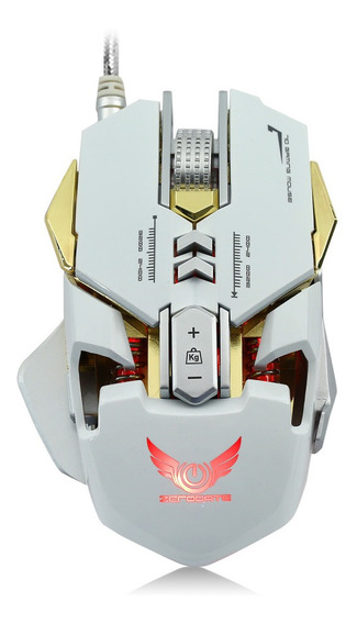 Zerodate 3200 Dpi Wired Gaming Mouse Branco
