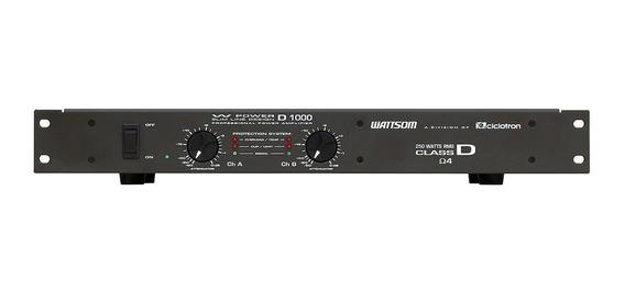 Amplificador De Potência 250w 8 Ohms W Power D1000 Ciclotron
