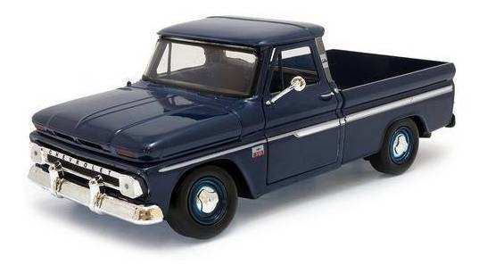 1966 Chevrolet C10 Pickup Azul - Escala 1:24 - Motormax