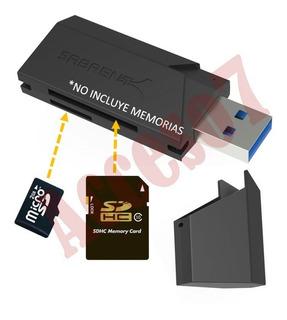 Lector Usb 3.0 De Tarjetas De Memoria Sd Micro Sd Sdhc Sdxc Uhs-i Mmc Tf Adaptador Externo Envio Gratis
