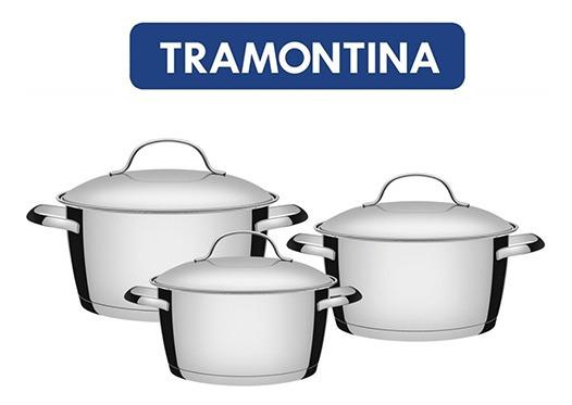 Ollas Tramontina Cocina Inducción, 3 Piezas. Marvintr
