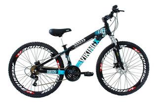 Bicicleta Vikingx Tuff 25 Vmaxx Aro 26 Freio Disco Preta