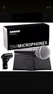 Combo Microfono Profesional Shure Sm-48 + Pie Cromado Atlas
