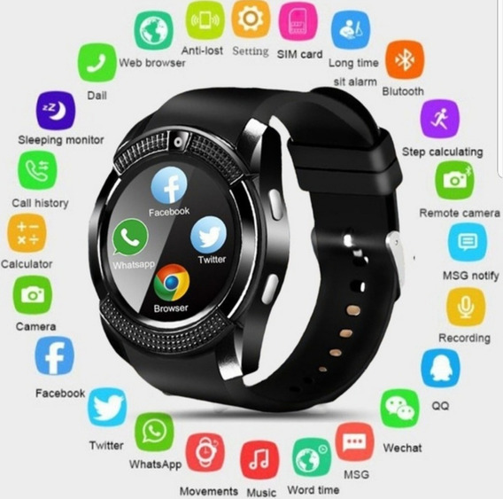 Relógio Smart Watch Câmara For Android Ios