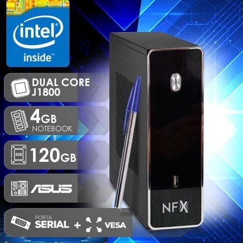 Computador Mini Desktop Asus Dual Core 4gb Ram Ssd 120gb W10