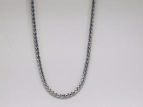 Corrente Cordão De Bali Trançada 75cm Em Prata 925