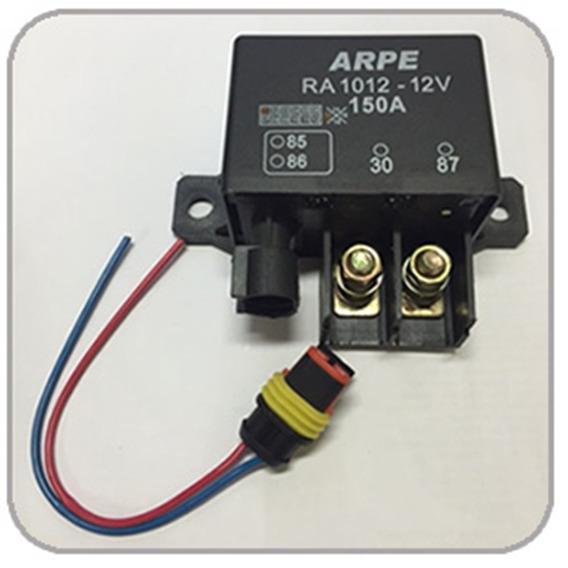 Rele Auxiliar De Partida Ra1012c 150a Na 12v C/ Conector
