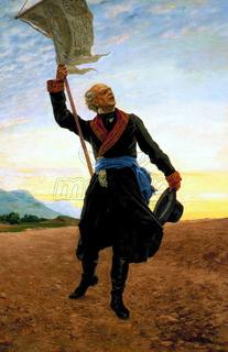 Lienzo Tela Canvas Miguel Hidalgo Y Costilla Con Estandarte