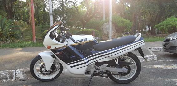 Honda Cbr 450 Sr Azul E Branca