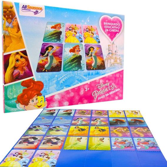 Jogo Da Memória Disney Princesa Brinquedo Educativo