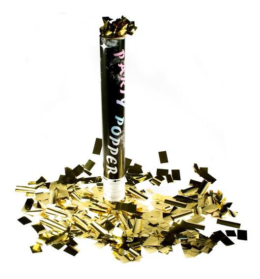 10 Bazucas Cañon Lanza Confeti Metalico Batucada 30cm N18