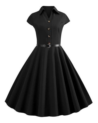 Vestido Mujer Comodo Vintage  Fiesta Casual Corto Elegante