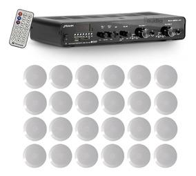Kit Som Receiver Slim 2500 App Bluetooth +24 Arandelas Redon