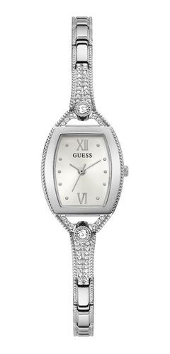 Reloj Para Mujer Guess Bella Color Plateado Gw0249l1