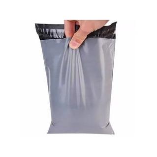 Envelope Cinza Plástico Segurança Lacre 12,5x25 2000 Pçs