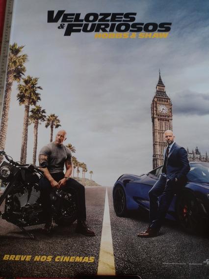 Poster:velozes & Furiosos:hobbs & Shaw:cinema:94cm X 64cm