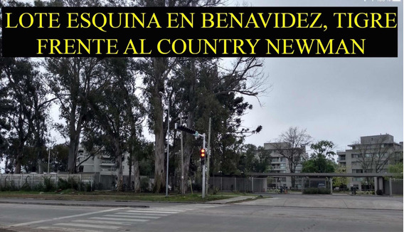 Terreno Esquina Comercial Frente Al Country Club Newman