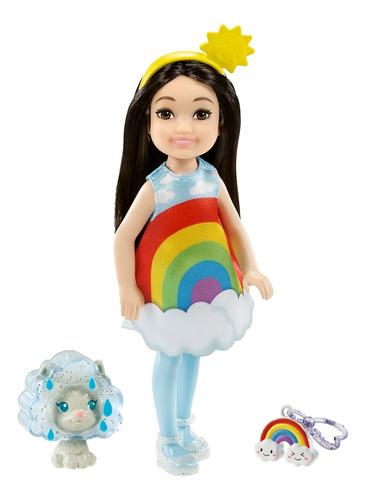 Imagen 1 de 7 de Barbie Mundo De Chelsea, Chelsea Disfraz Arcoiris