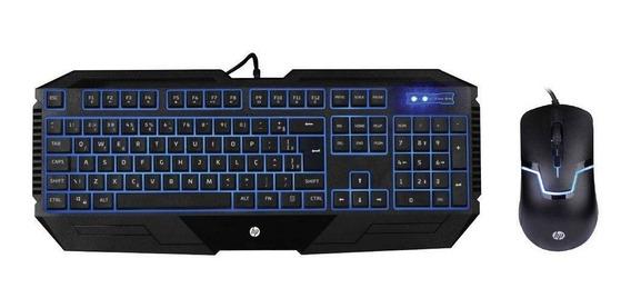 Combo Teclado E Mouse Gamer Hp Gk1100 Black
