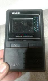Mini Tv Analógica Antiga Casio