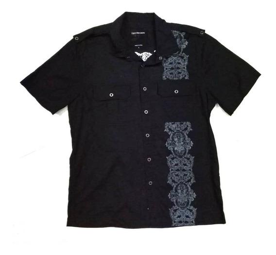 Camisa Calvin Klein Corta Premium L Original Envió Inmediato