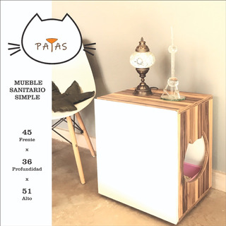 Mueble Sanitario Para Gatos.6 Cuotas S/int.( Patas Muebles )