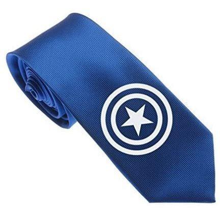 Corbata Delgada De .  Tejida Para Hombre Azul Con Log...