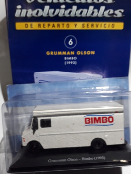 1//43 GRUMMAN OLSON BIMBO 1993 COLECCIÓN INOLVIDABLES ARGENTINA SALVAT