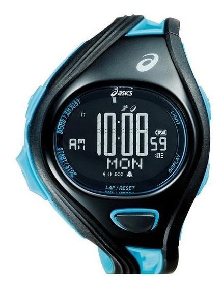 Relógio De Pulso Asics Challenge Super - Preto/azul Claro